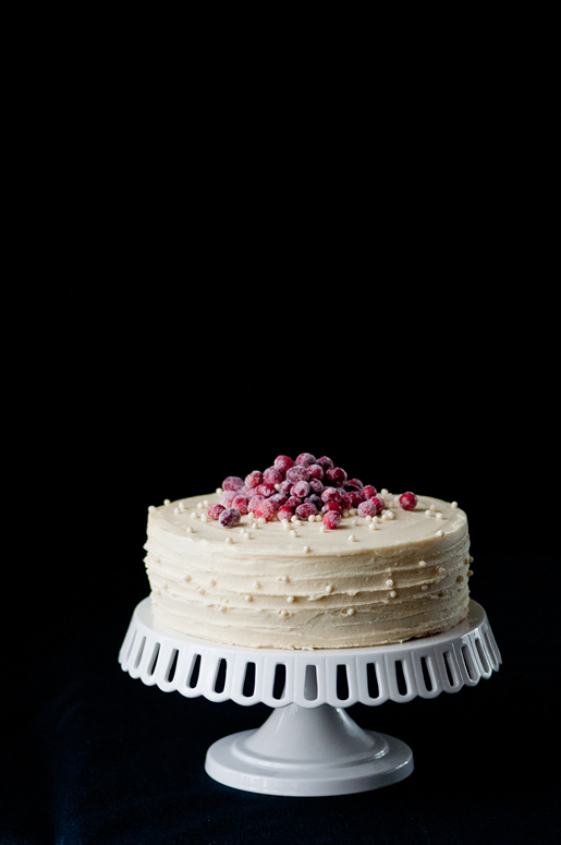 White Chocolate Cranberry Cake Recipe