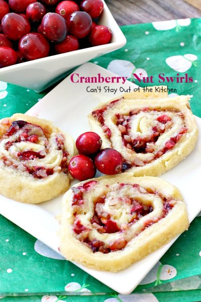 cranberry nut pinwheel cookies