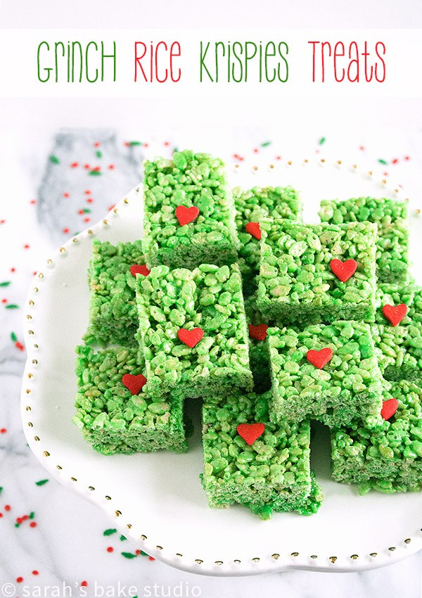 grinch rice krispie treats recipe