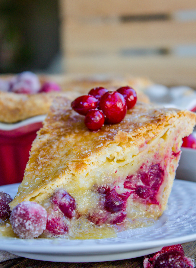 cranberry custard pie recipe