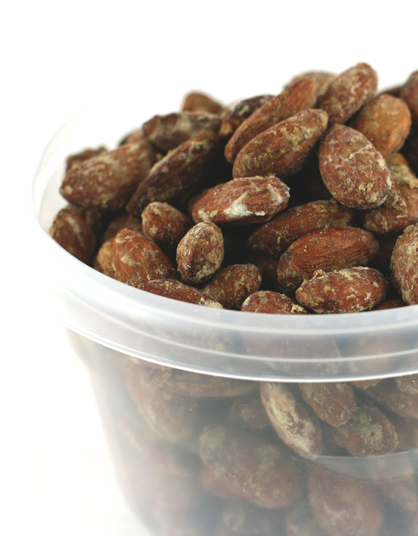 slow cooker wasabi roasted almonds recipe