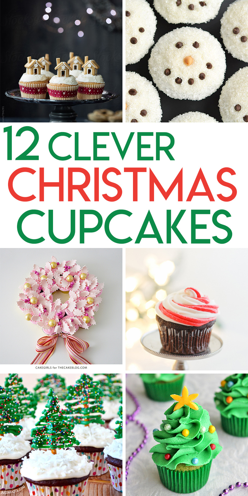 12 clever Christmas cupcake tutorials and ideas.