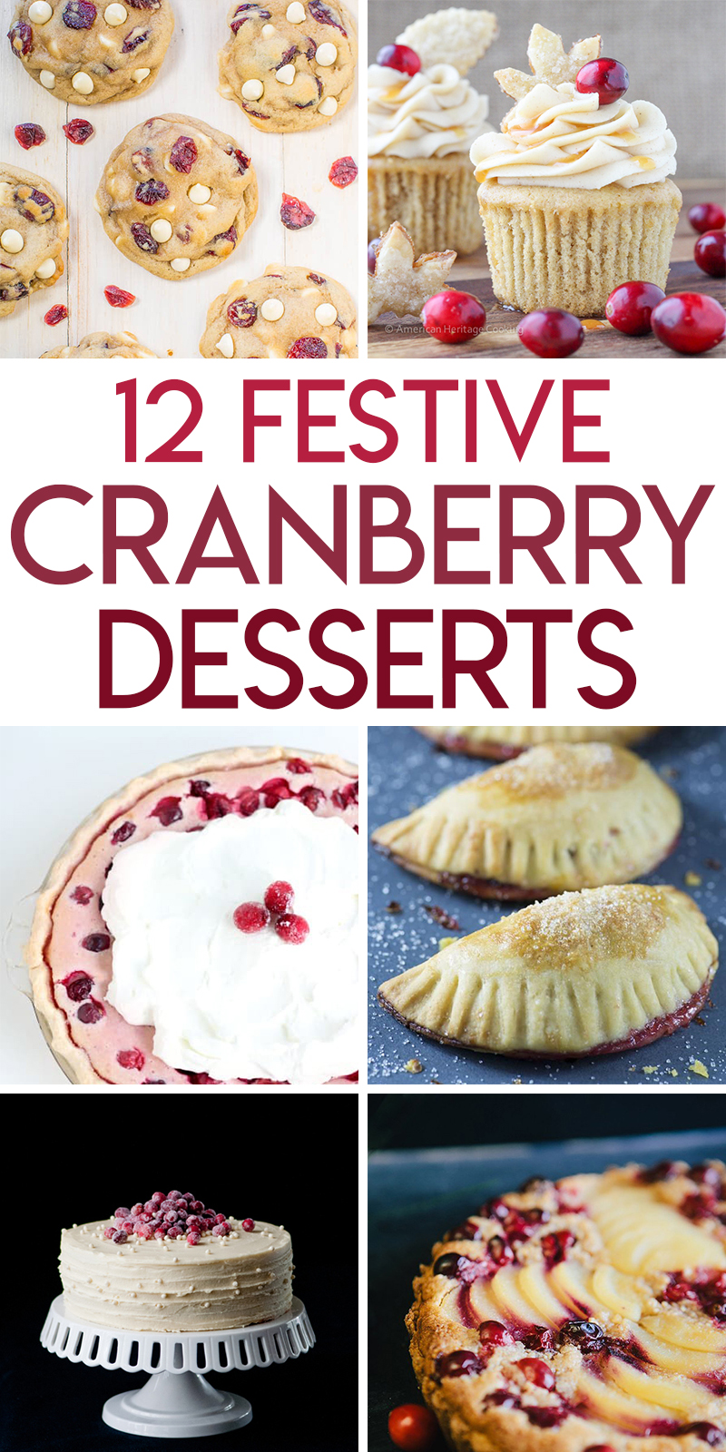 12 festive cranberry desserts for the holidays