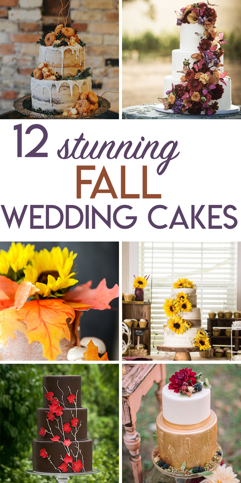 12 stunning fall wedding cakes