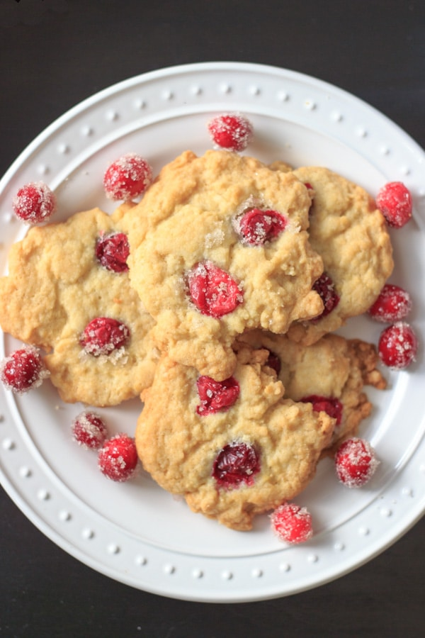 sugared cranberry cookies recipe