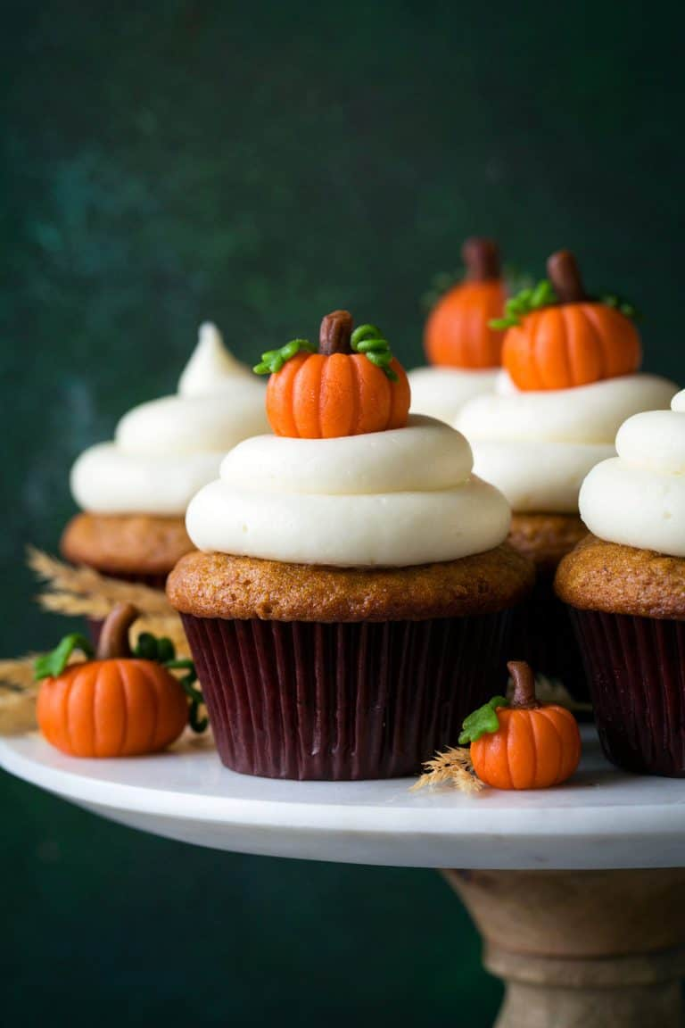 Spice Cake Cupcakes With Cream Cheese Frosting
