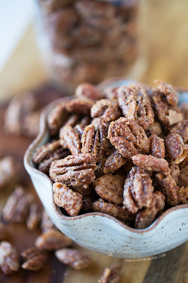 maple cinnamon spiced candied nuts recipe