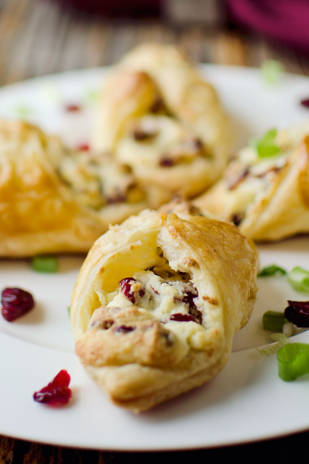 Cranberry and Whipped Feta Puffs