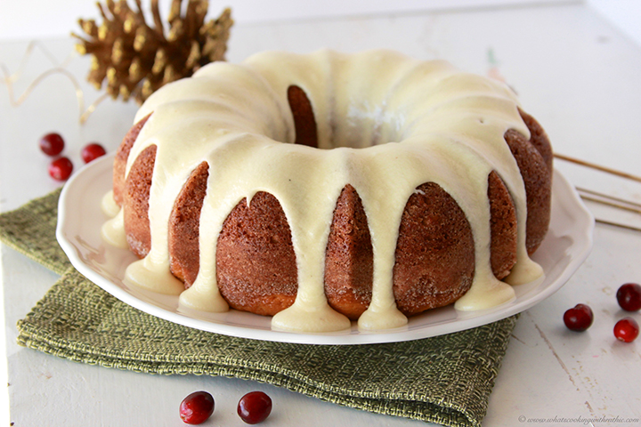 eggnog bundt cake with egg nog frosting recipe