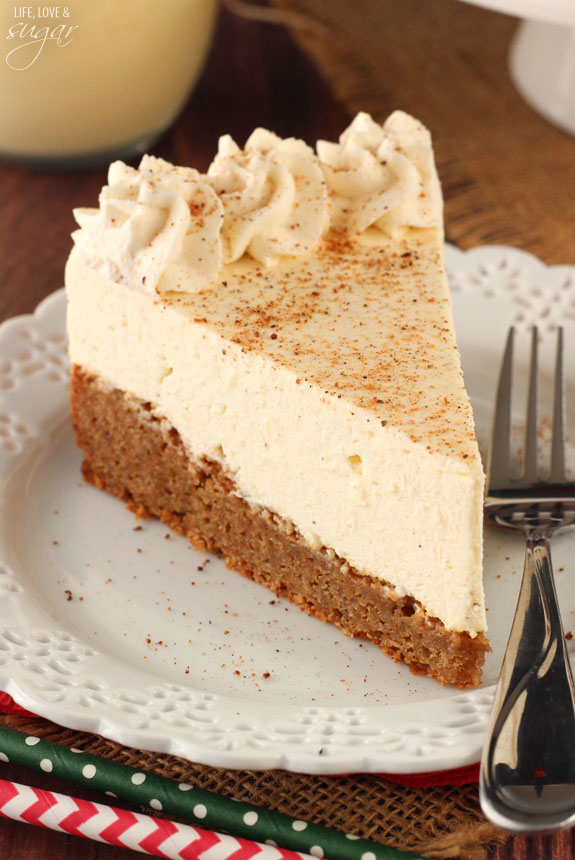eggnog spice blondie cheesecake recipe
