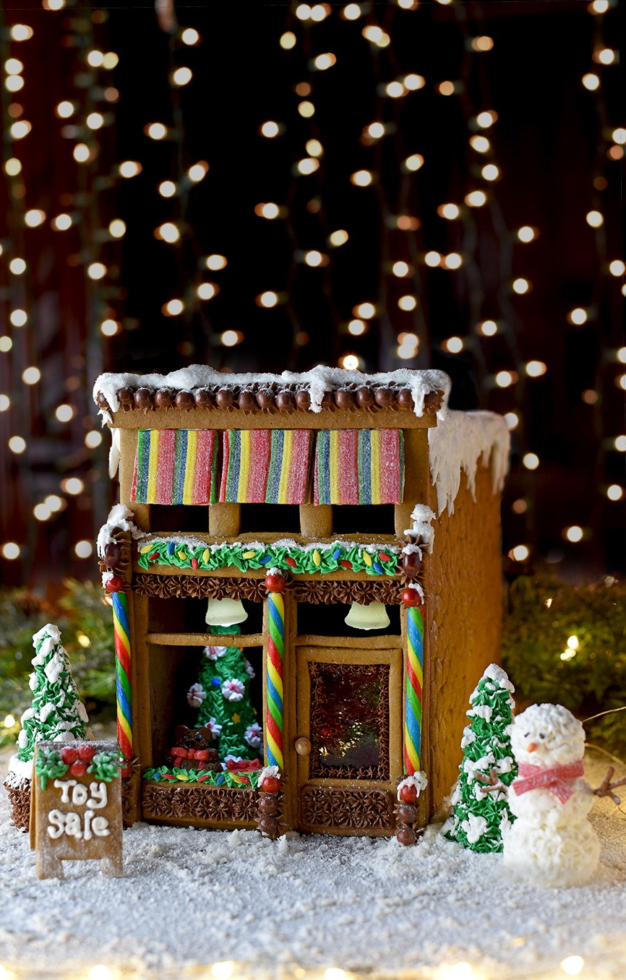 Victorian storefront gingerbread house template