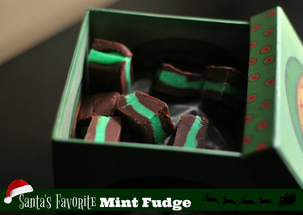 chocolate mint layered fudge recipe for Christmas