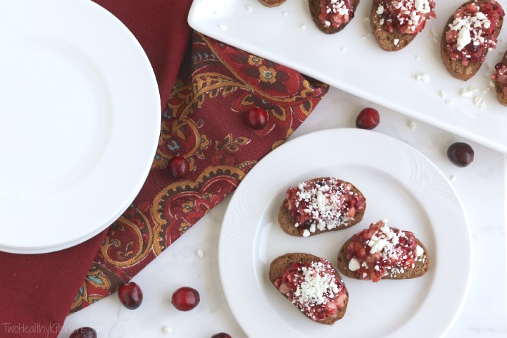Cranberry and Goat Cheese Crostini