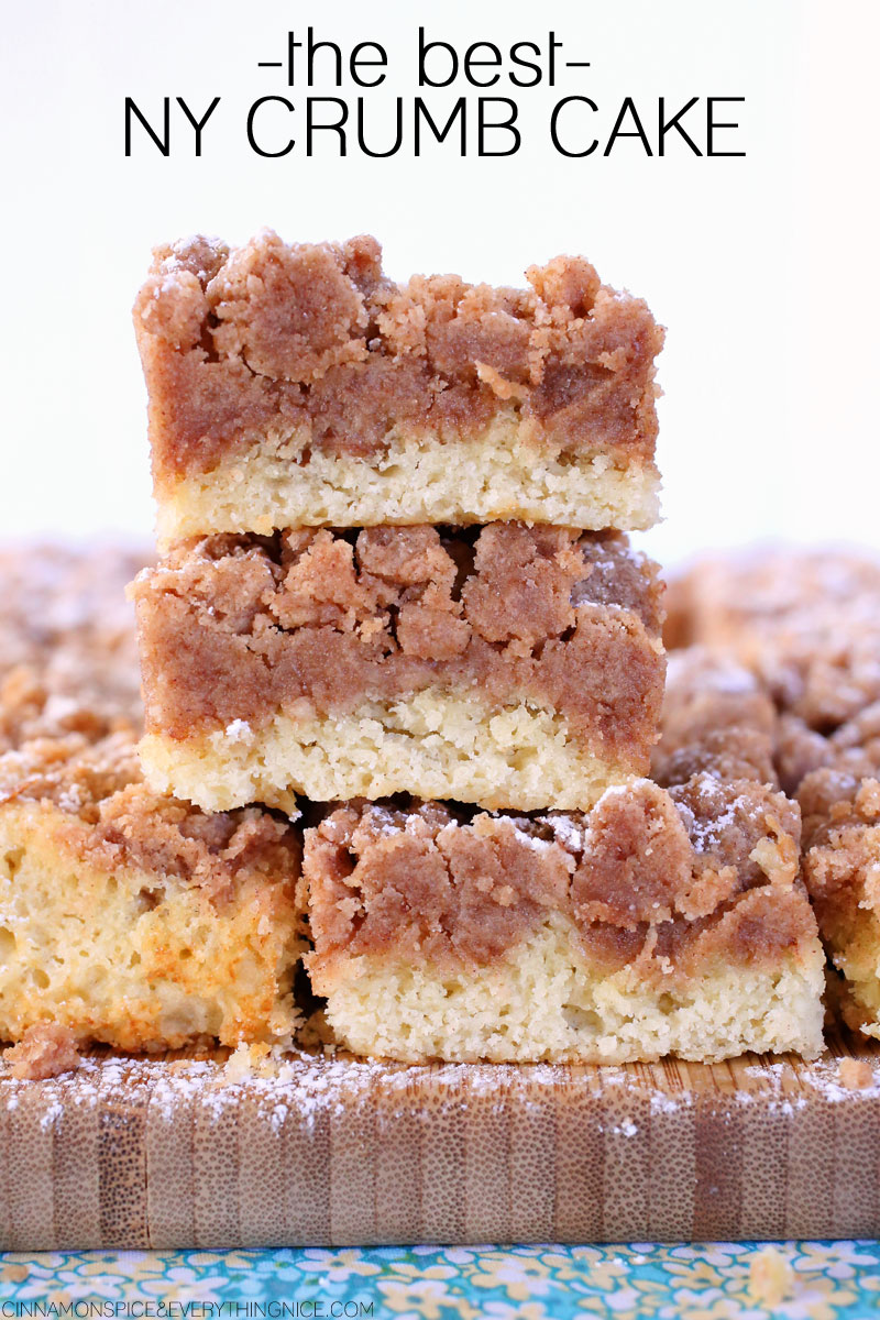 coffee cake with amazing New York style crumb topping