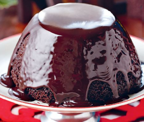 Chocolate steamed Christmas pudding recipe