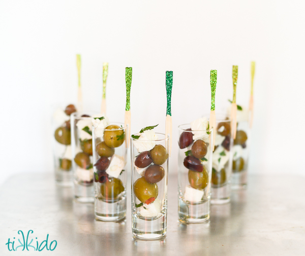 Easy and elegant olive and feta appetizer