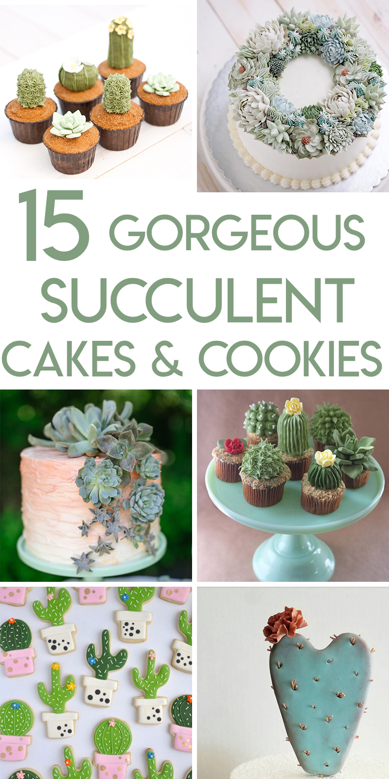 15 Stunning succulent cakes, cupcakes, and cookies