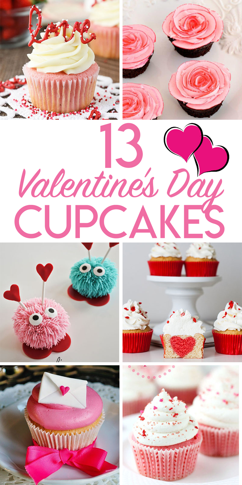 13 lovely valentine's day cupcakes