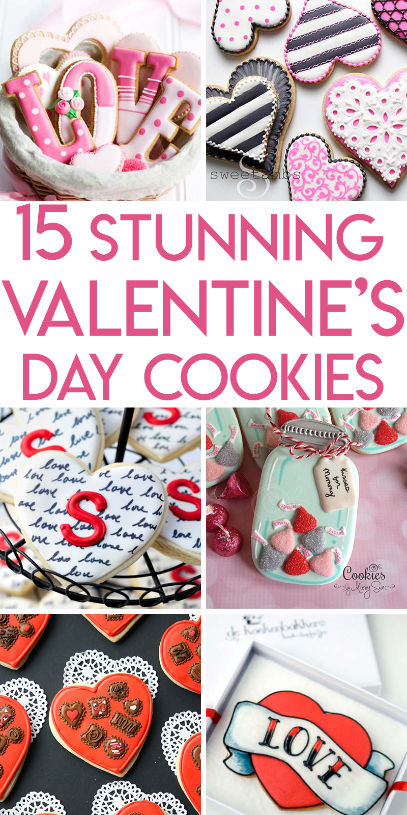 15 beautifully decorated valentine's day sugar cookies