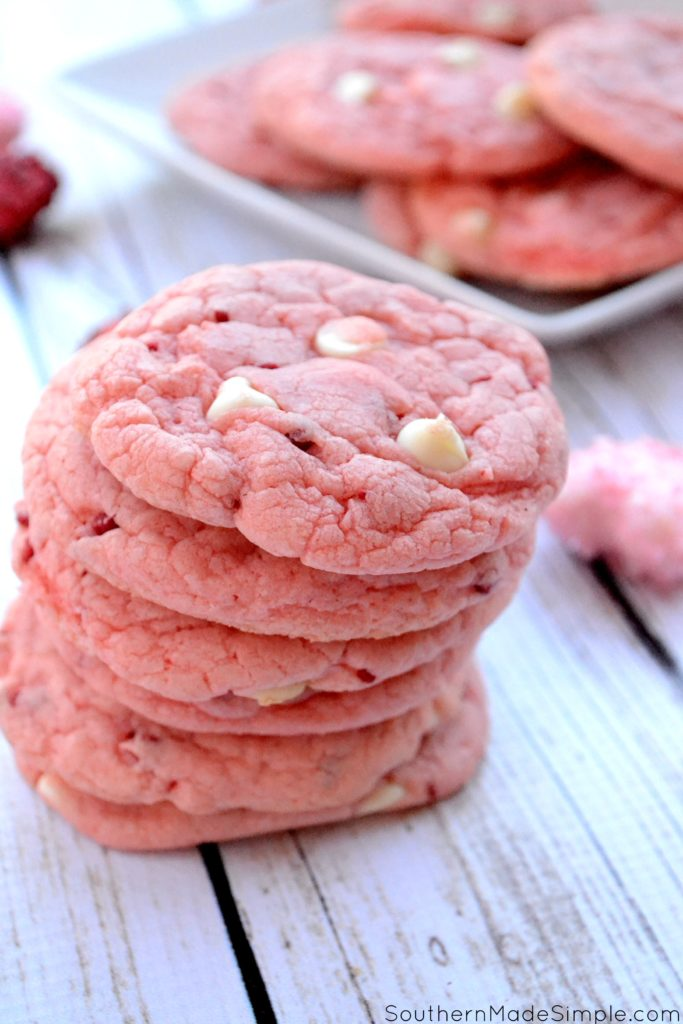Strawberry milkshake cookies for Valentine's Day