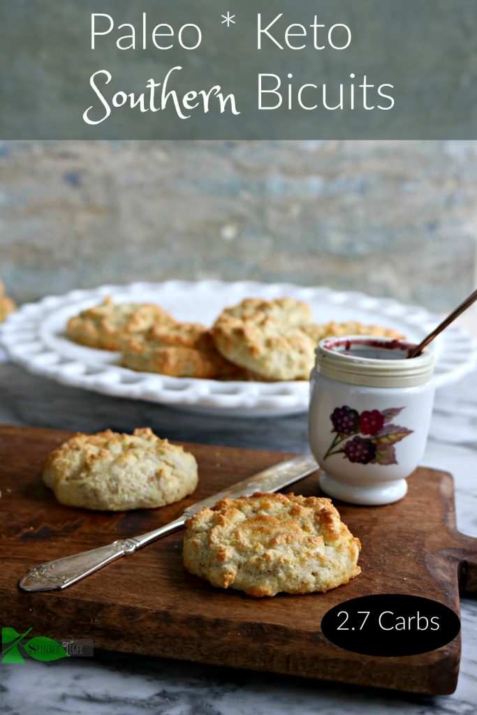 Grain Free Biscuits that are low carb, keto, paleo, gluten free and diabetic friendly