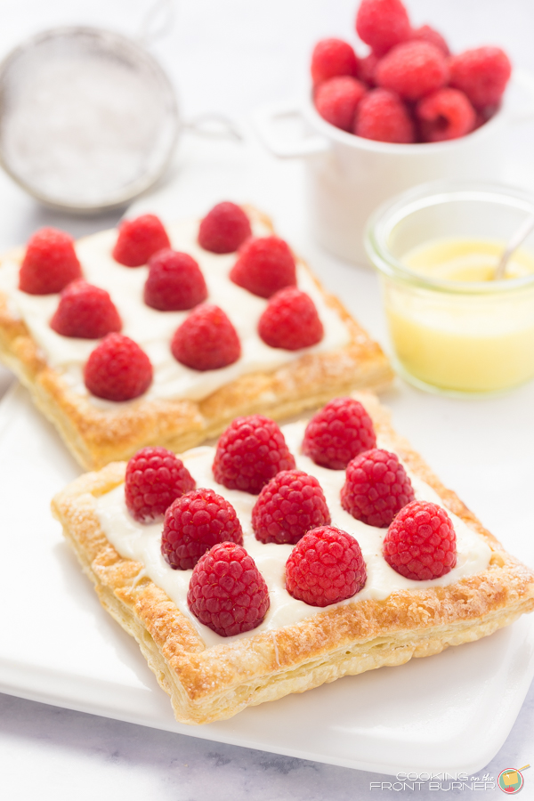 Lemon Raspberry tarts recipe for two people