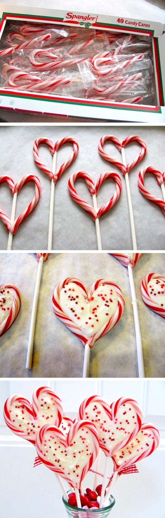 Sweetheart heart chocolate peppermint pops