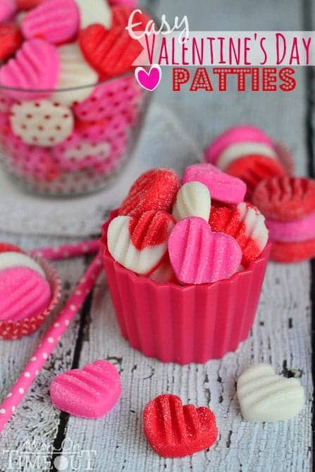 Easy valentine's day candy patties