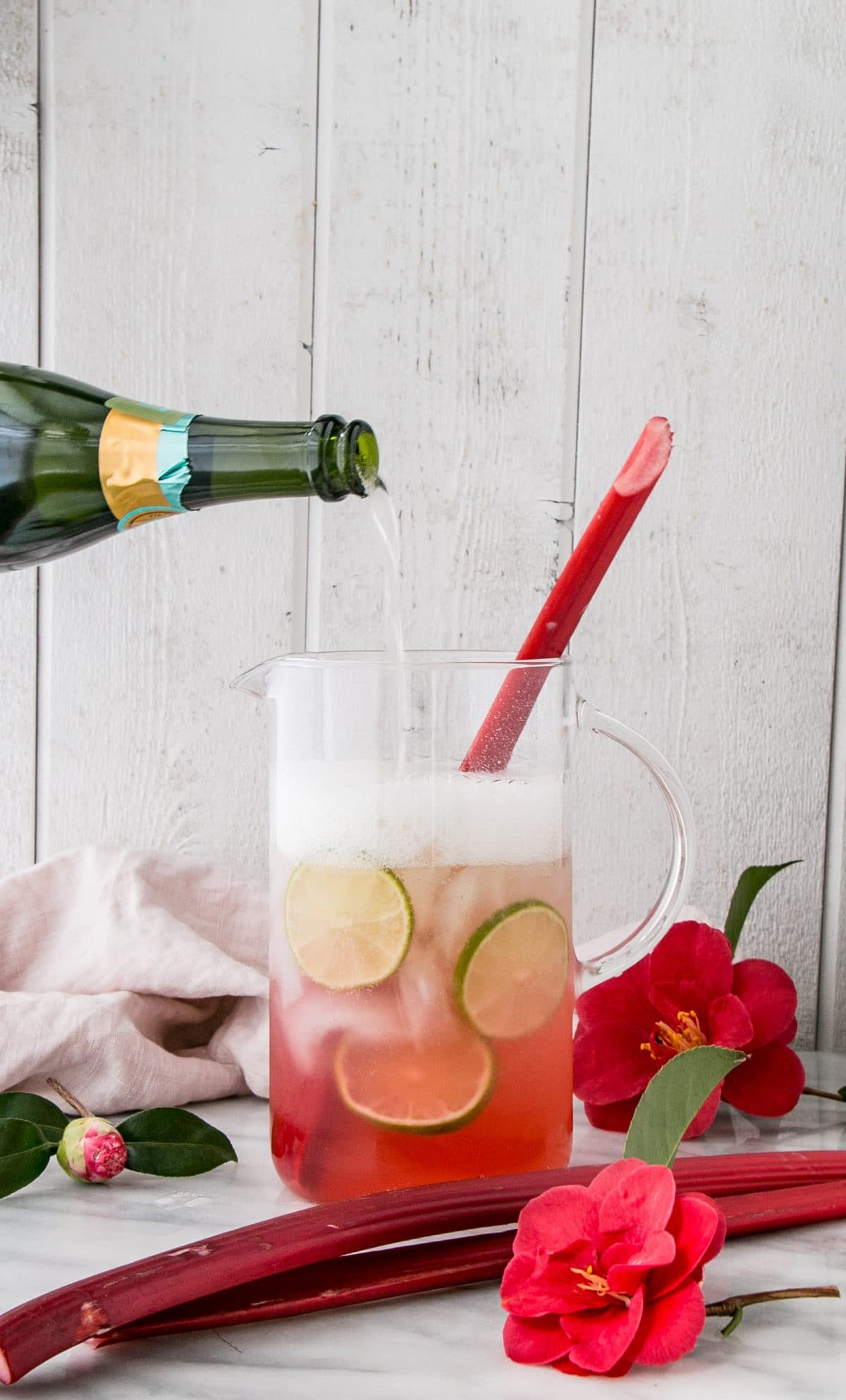 Sparkling Rhubarb Margarita cocktail recipe