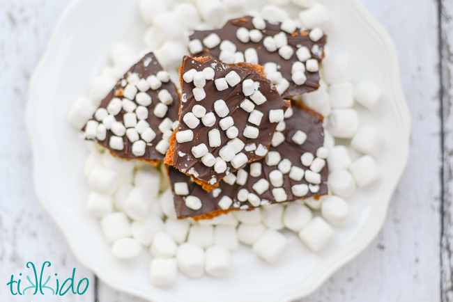 S'mores cracker toffee recipe